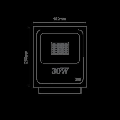 Projetor LED Preto