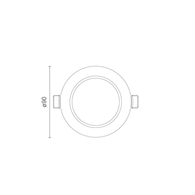 Spot LED Flex Redondo