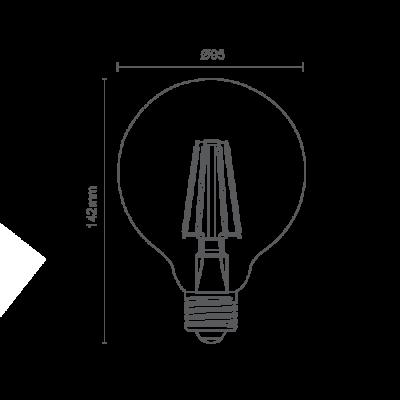 Lâmpada Balloon Filamento Retrô