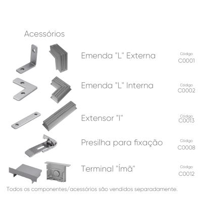 Perfil de Alumínio Embutir Master