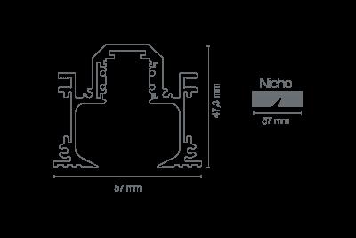 Trilho No Frame Magnético Mini